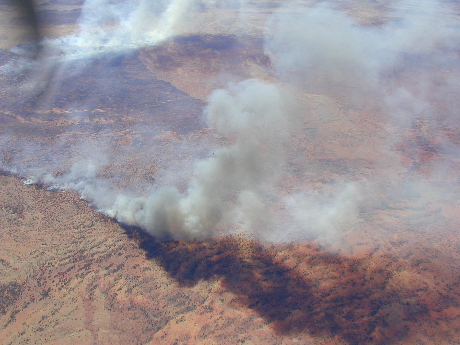 Wildfires in central Australia