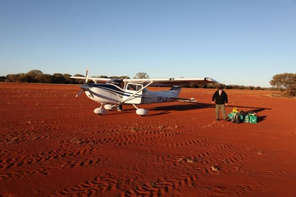 Cessna on Angas Downs Airstrip