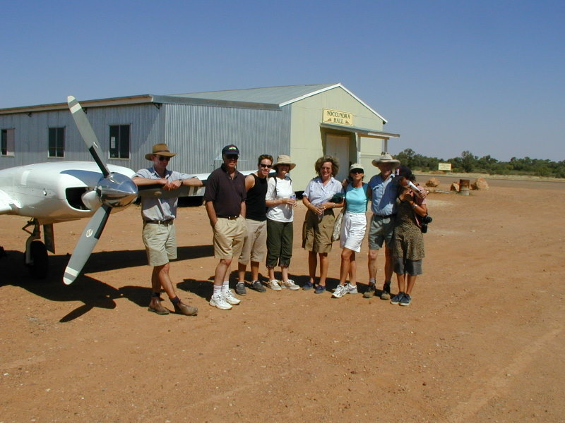 Team on flight to Lake Eyre