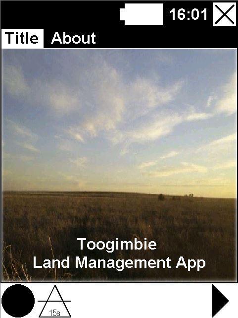 Toogimbie Start Screen