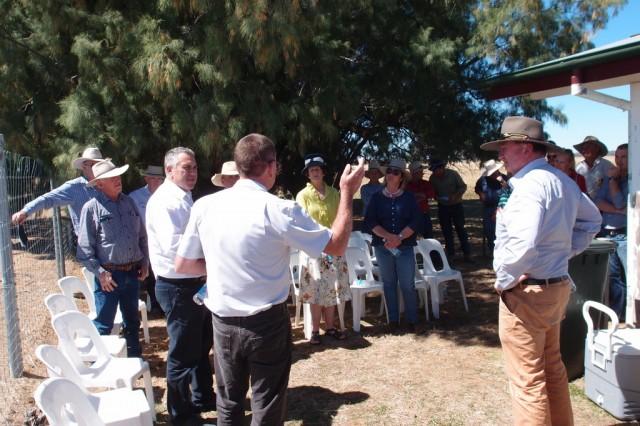 Joe Hockey and Barnaby Joyce discussing kangaroo management at Mitchell Airport